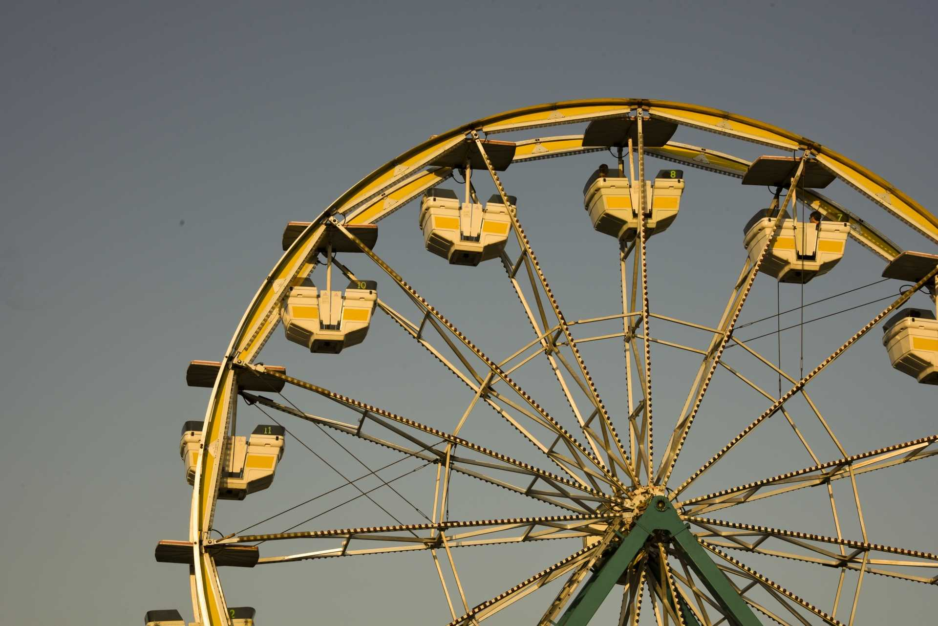 ferris wheel, town carnival